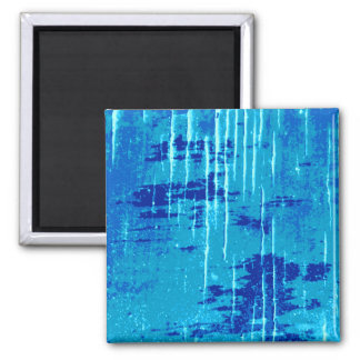 Blue Abstract Graphic. Square Magnet