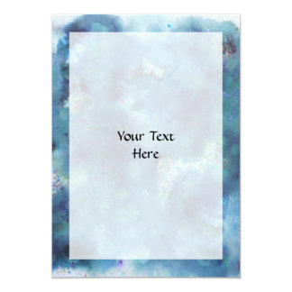 Blue Abstract. 5x7 Paper Invitation Card