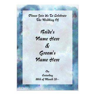 Blue Abstract. Personalized Announcement