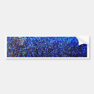 Blue Abstract Lighthouse Paint Splatter Painting Bumper Sticker