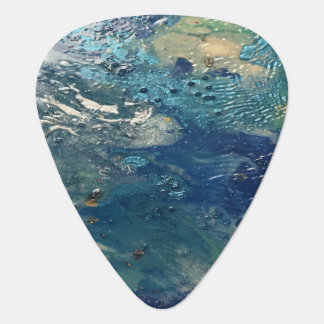 Blue Abstract No. 4 Guitar Pick