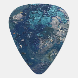 Blue Abstract No.5 Guitar Pick
