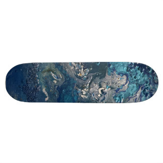 Blue Abstract No.5 Skateboard Deck