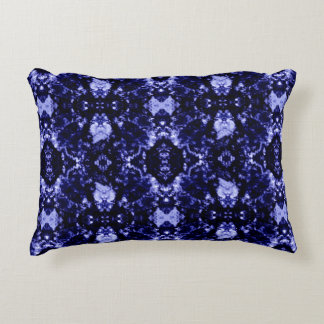 Blue Abstract Pattern Accent Pillow