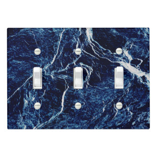 Blue Abstract Pattern Light Switch Cover