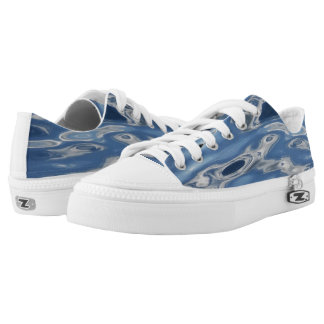 Blue abstract pattern Low-Top sneakers