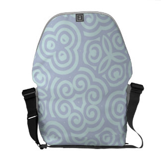 Blue abstract pattern courier bags