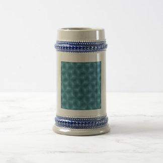 Blue abstract pattern mug