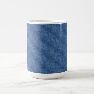 Blue abstract pattern mugs