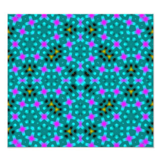 Blue Abstract Pattern Photo Print