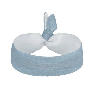 Blue abstract pattern ribbon hair ties
