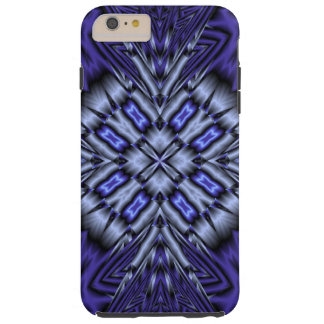 Blue abstract pattern tough iPhone 6 plus case