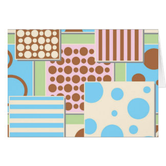 Blue Abstract Patterns Greeting Card