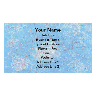Blue Abstract Printed Pattern Business Card Template