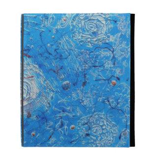 Blue Abstract Printed Pattern. iPad Folio Case