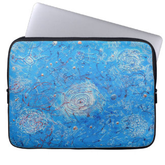 Blue Abstract Printed Pattern Laptop Computer Sleeves