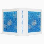 Blue Abstract Printed Pattern Vinyl Binder