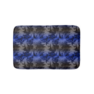 Blue Abstract Small Bath Mat