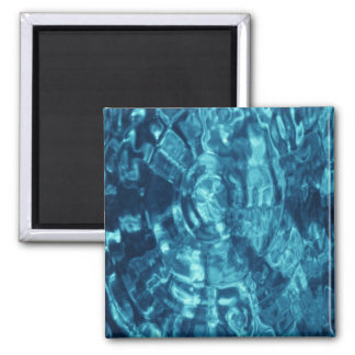 Blue Abstract Square Magnet