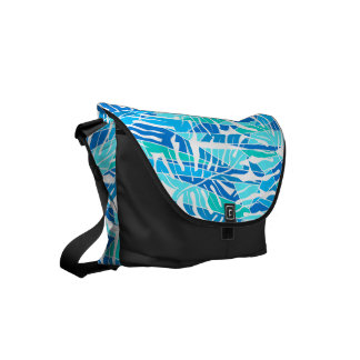 Blue abstract surf budget messenger bag