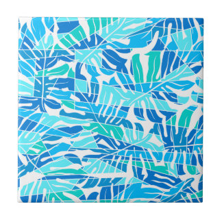 Blue abstract surf budget tile