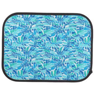 Blue abstract surf car mat
