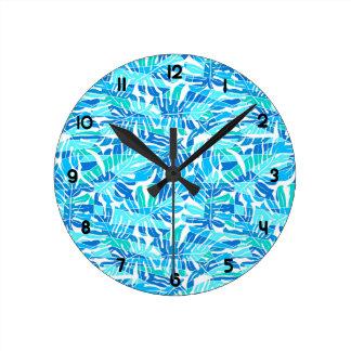 Blue abstract surf clocks