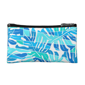 Blue abstract surf cosmetic bag
