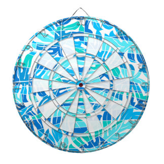 Blue abstract surf dartboard