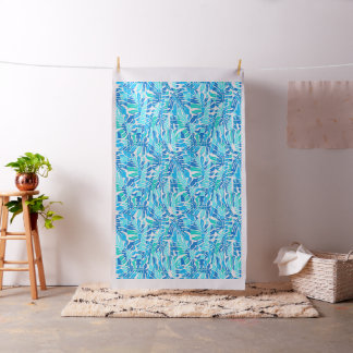 Blue abstract surf fabric