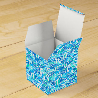 Blue abstract surf favor box