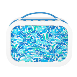 Blue abstract surf lunch boxes