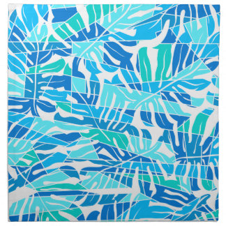 Blue abstract surf napkin