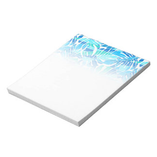 Blue abstract surf notepad