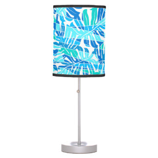 Blue abstract surf table lamp