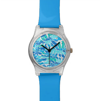 Blue abstract surf watch