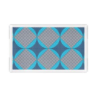 Blue Abstract Tray