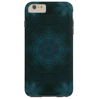 Blue abstract wood tough iPhone 6 plus case