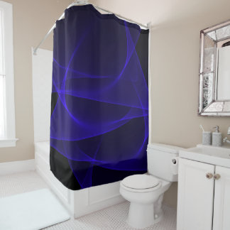 BLUE ABYSS SHOWER CURTAIN
