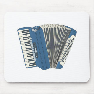 blue accordian mouse pad