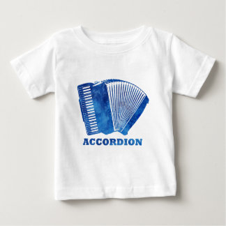 Blue Accordion Baby T-Shirt