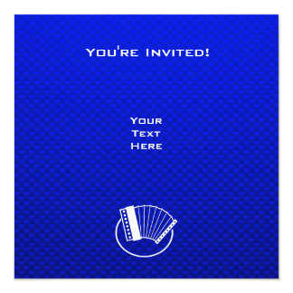Blue Accordion Personalized Announcements