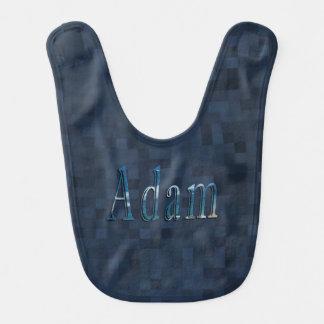 Blue Adam Name Logo, Bib