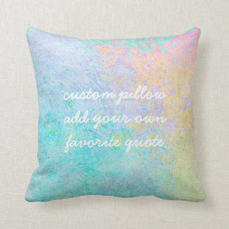 blue add a quote pillow for custom home decor