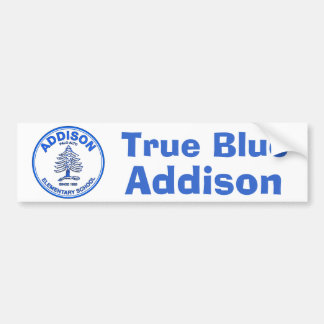 Blue Addison Bumper Sticker