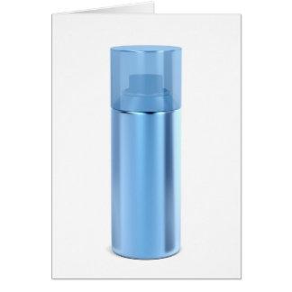 Blue aerosol spray can card