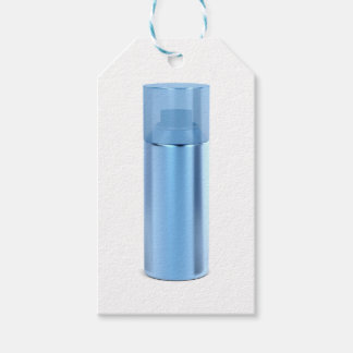 Blue aerosol spray can gift tags