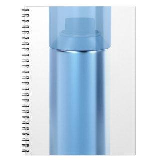 Blue aerosol spray can notebook