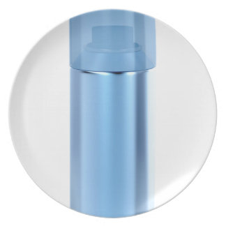 Blue aerosol spray can plate