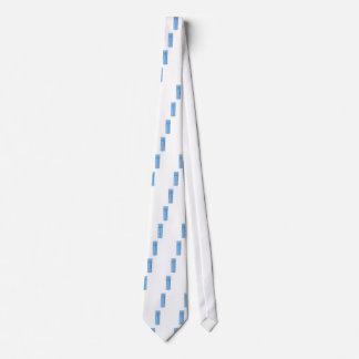 Blue aerosol spray can tie